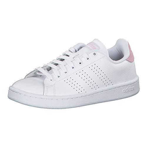 Adidas Advantage, Damen Hallenschuhe, Weiß (Ftwbla/Ftwbla/Grasua 000), 38 EU (5 UK)