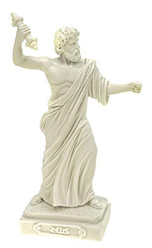 Alabaster Deko Figur Zeus nordischer Göttervater 16 cm Skulptur weiß