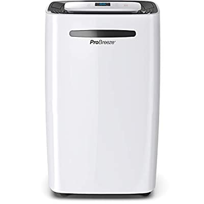 Pro Breeze® 20L/Day Dehumidifier with Digital Humidity Display, Sleep Mode, Continuous Drainage, Laundry Drying and 24 Hour Timer - Ideal for Damp and Condensation