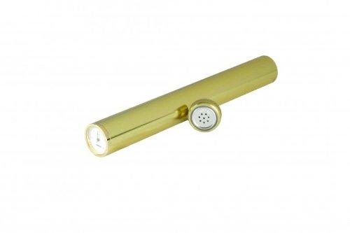 Humidor en Tubo Adorini con higrómetro en dorado