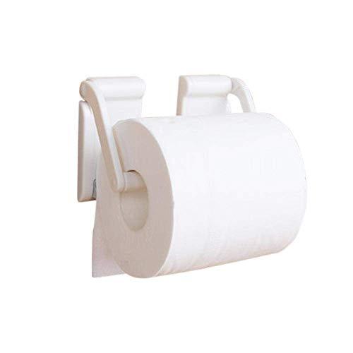 CENPEN Soporte de papel higiénico ajustable blanco imán rollo titular de papel hogar cocina baño accesorios práctico baño titular de papel higiénico