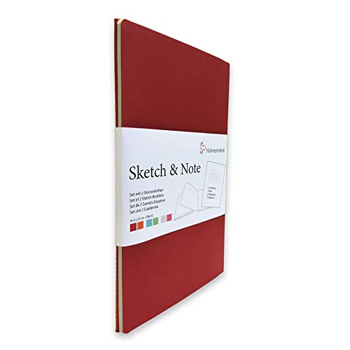 Sketch & Note, Red Bundle 125 g/m², A5, 20 Blatt pro Booklet