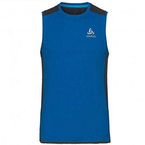 Odlo Omnius BL CN, T-Shirt sans Manches pour Homme L Energy Blue/Diving Navy