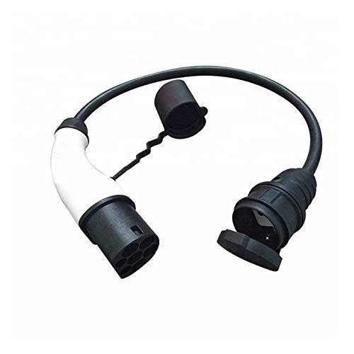 XIAOSHI Little Oriental EVSE Adapter tragbarer EV-Stecker Typ 2-Stecker an Schuko-Buchse 16A Elektrischer Autoanschluss mit 50 cm Kabel