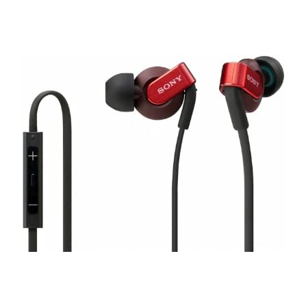 SONY EXTRA BASS カナル型イヤホン iPhone/iPod/iPad対応リモコン・マイク付 レッド MDR-XB41IP/R
