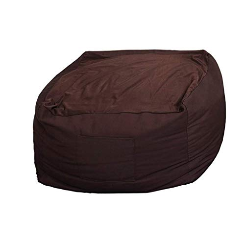 W.S.-YUE Bean Bag Stühle for Jugendliche faul Sofa Kinder Abnehmbarer Wohnzimmer Lounge for Spiele AAA (Farbe: braun) (Color : Brown)