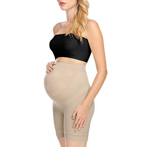 Narcissus Maternity Dress Shapewear Underwear Photoshoot Gown Pregnancy Shorts Pettipants Nude L