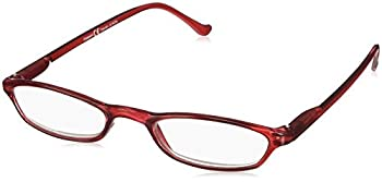 Peepers by PeeperSpecs Women s Slim Line Rectangular Reading Glasses Red 45 mm + 2