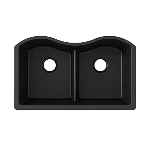 Big Sale Best Cheap Deals Elkay ELGULB3322BK0 Harmony E-Granite Undermount Sink, Black