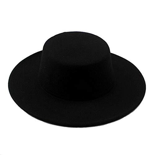 Mode Classique Unisexe mélange de Laine Chapeau Fedora Large Bord Chapeau Fedora Classique Chapeau de Jazz Chapeau en Feutre Parfait pour Spectacle de Talent Spectacle et Accessoires