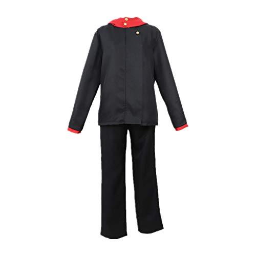 Vestido japonés Fotografía Disfraz de Cosplay Jujutsu Kaisen Inumaki Toge Anime Sudadera con capucha Abrigo Chaqueta Trajes de disfraces diarios para exhibición de Anime Traje de alta calidad S negro