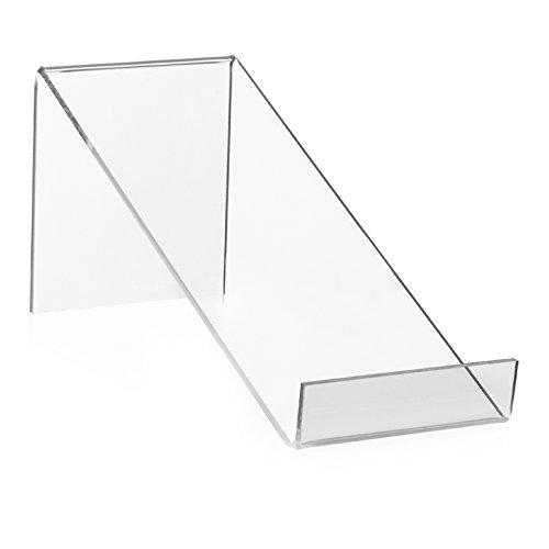 Boekenstaander/boekensteun als goederen drager en boekenplank van origineel PLEXIGLAS® (210 x 80 x 90 mm)