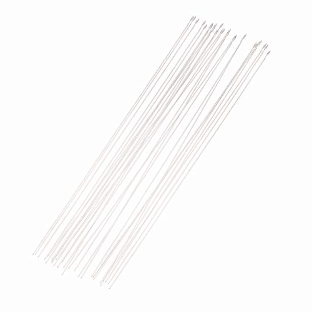 ARRICRAFT 5 Bag 150pcs Iron Beading Needles Threading String Cord Pins Hand Tools for DIY Jewellry Making, 120mm Long, Hole 0.5mm