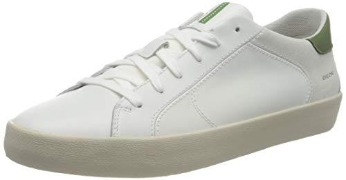 Geox U Warley A, Zapatillas Hombre, Color Verde Oliva, 44 Eu