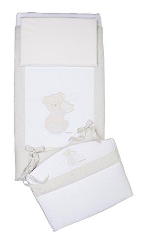Foppapedretti Dolcecuore Completo Piumone con Paracolpi, Bianco