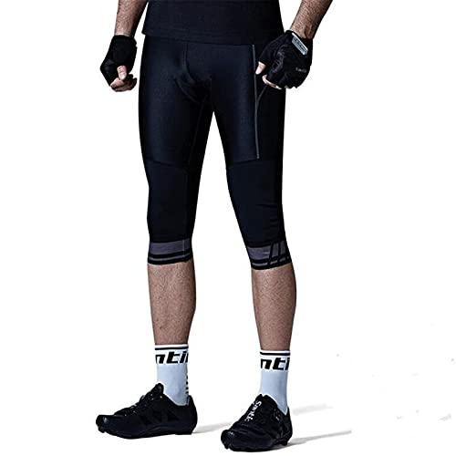 YYDM Pantaloncini da Ciclismo da Uomo, Pantaloncini da Ciclismo Traspiranti E Rapidi con Imbottitura A 4D Spesso, Elevata Elasticità E Comfort, Adatto per Gli Sport all'Aria Aperta,Medium