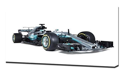 2017 Formula1 Mercedes AMG F1 W08 V1 - Reproducción Lienzo - Arte Enmarcado Impresión De Lienzo