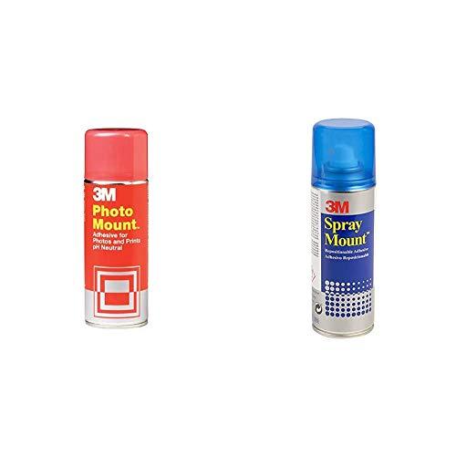 3M Photo Mount - Adhesivo, 400ml + Spray Mount - Adhesivo Reposicionable, 200 ml