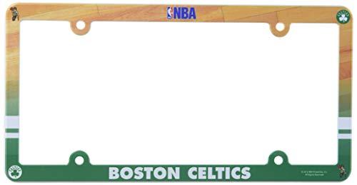 NBA Boston Celtics Full Color License Plate Frame, Team Color, One Size