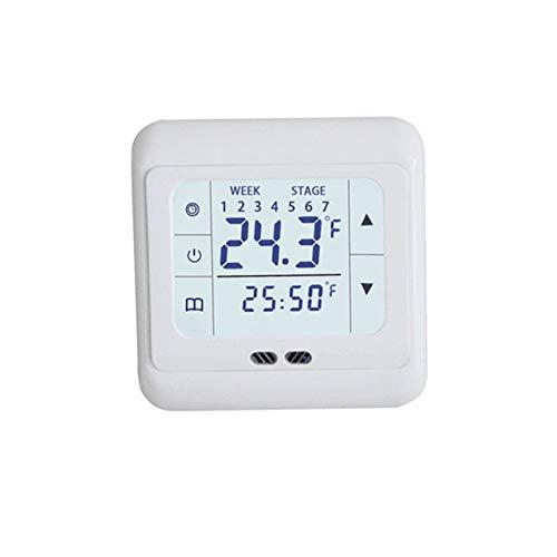 Ashley GAO Termostato de calefacción eléctrica Controlador 30a Calefacción Eléctrica Película Cable de Calefacción WiFi Termostato