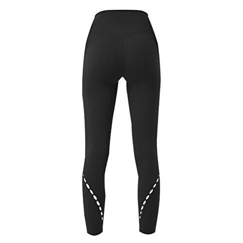 LQG Yoga Kleidung, Double-Sided Brocade Schleifmaterial, hohe Elastizität, Hip-Lifting, Nahtlose Innentasche, Geeignet für Home und Outdoor-Damen Fitness-Bekleidung,Schwarz,S