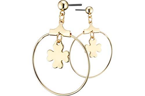 Bérénice Eterno Clover Pierced Earrings Gold-Plated