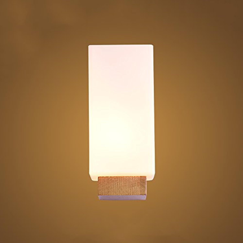 WOF Japanisch-Stil LED Massivholz Wand Lampe Gang Treppe Bad Spiegel Scheinwerfer Wohnzimmer Schlafzimmer Nachttischlampen