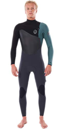 RIP CURL Mens Flashbomb 3/2mm Chest Zip Wetsuit WSTYMF - Green Wetsuit Size - S