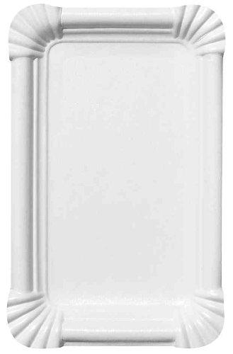 SUSY CARD 11170131 Pappteller 13x20cm 20er weiß Papp-Teller, eckig, Maáe: 130 x 200 mm, weiá, 20x13.3x2.5 cm