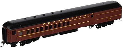 Bachmann Industries PRR Postwar Round Door  9921 72' HeavyWeißht Combine with Lighted Interior by Bachmann Trains