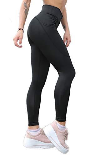 FITTOO Leggings Sportivi Donna Vita Alta Pantaloni Fitness Compressione Allenamento Push Up Butt Lifter Pantaloni Yoga Palestra Jogging