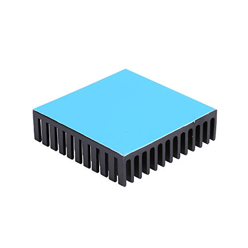 Awxlumv 4pcs Heat Sink 40 x 40 x 11mm /1.57 x 1.57 x 0.44 inch Aluminum Small Heatsink with Thermal Conductive Double Sided Tape for CPU IC Cooling 3D Printers, TEC1-12706 Thermoelectric Peltier Coole