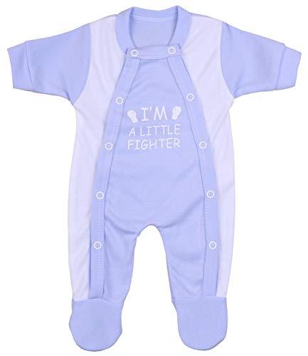 Babyprem Frühchen Baby Kleidung Schlafanzüge Strampler Kleine Kämpfer 38-44cm BLAU 1.6-2.5kg