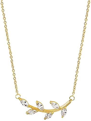 Yiffshunl Collar Moda Bijoux Corps Collares Mujer Acero Inoxidable Oro CZ Piedra Ajustable Rama Collares y Colgantes Mujeres Hombres Colar BFF