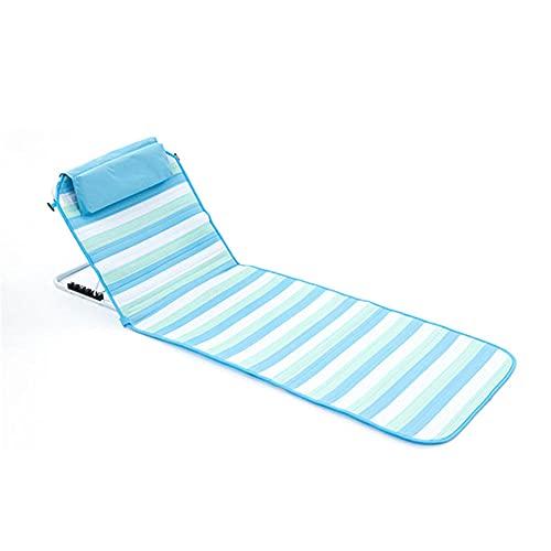 Tumbonas Sol cómodas sillas de Playa Ajustables de bajo Plegable Sillas de...