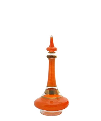 Discoveries Egyptian Imports Genie Bottle, Made in Egypt and Packaged in Decorative Hieroglyphic Box - Orange - 5""