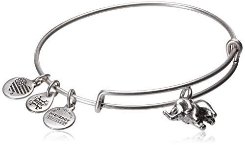 Alex and Ani Elephant II Rafaelian Silver Bangle Bracelet