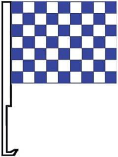 NEOPlex Checkered Blue/White Car Window Flag