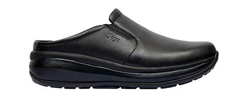Joya Cabrio II M Black, Full-Grain Leather / Textile, Emotion-Sohle, Clog 135cas, Größe 45