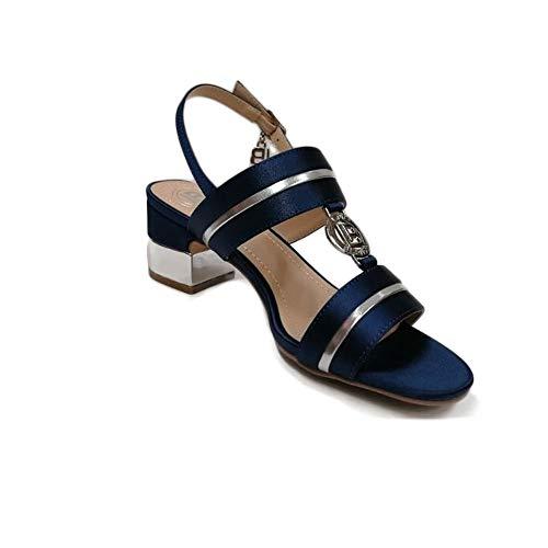 Laura Biagiotti Scarpe da Donna Sandali Raso Blu 5506-NAVSAT