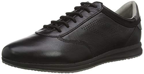 Geox D Avery C, Zapatillas Mujer, Negro (Black C9999), 36 EU