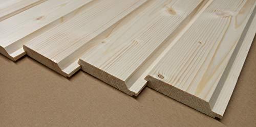 AZZAP Profilbretter Profilholz Fassadenprofil Fasebretter 20x90mm Länge:50cm Holz 50 St.
