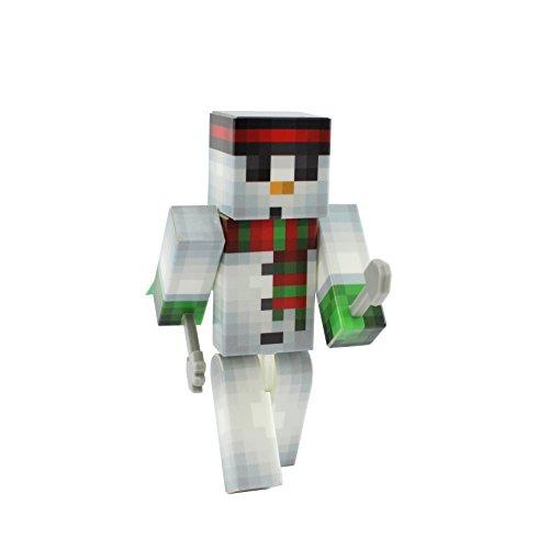 EnderToys Snowman Action Figure Toy, 4 Inch Custom Series Figurines