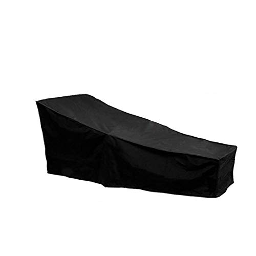 J&C Patio Chaise Lounge Cover,Outdoor Sunbed Cover, Patio Furniture Protector, Heavy Duty Outdoor Garden Sun Lounger Covers Protector Waterproof Black(82' L x 30' W x 31' H/16 H)