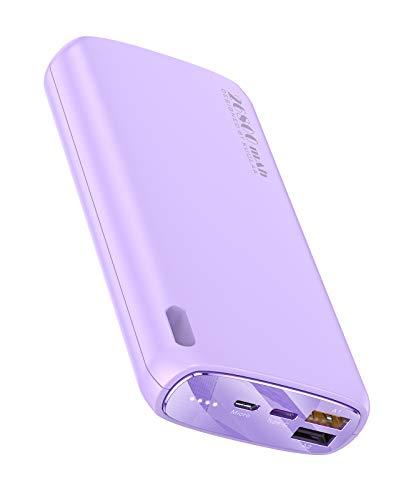 Kuulaa Powerbank 26800mAh Externer Akku Makrone Farbe Dual Output Tragbares Ladegerät Externer Batterie Pack for iPhone XR/XS/X / 8/7/6, iPad, Samsung, Huawei(schnelles Laden, lila)