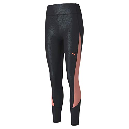 Puma Train Pearl Print High Waist 7/8 Tight Legging Femme Puma Black/NRGY Peach FR : M (Taille Fabricant : M)