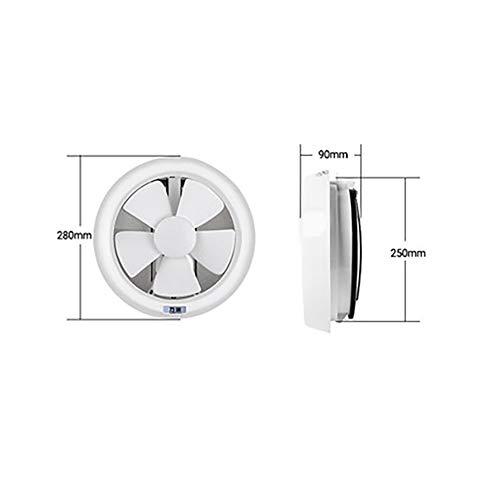 Uitlaatventilator stille afzuigventilator, ventilator voor luchtafzuiging, raamventilator, kunnen worden gebruikt in de keuken, badkamer, etc,8 inches