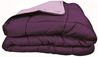 Couette bicolore Polyester Prune/Parme 220 x 240 cm - POYET MOTTE - Gamme CALGARY