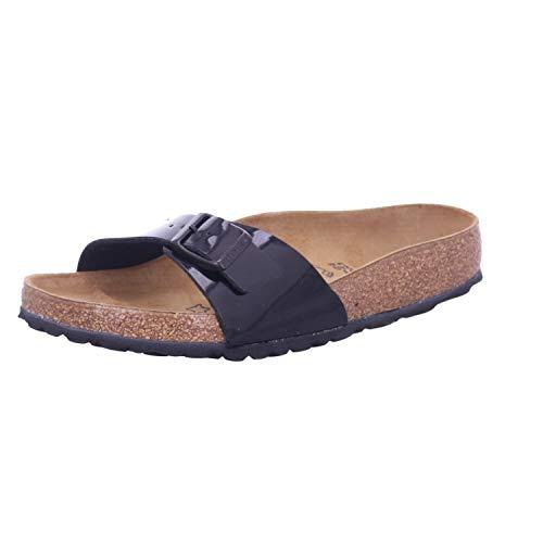 Birkenstock Schuhe Madrid Birko-Flor Lack Normal Black (040301) 37 Schwarz