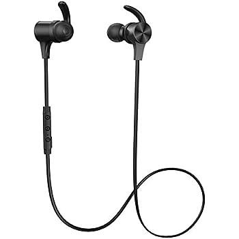 TaoTronics TT-BH07S BK【ブラック】 Bluetooth5.0 aptX HD AAC対応 最長15時間 長持ち IPX5 Android iPhone ワイヤレス イヤホン